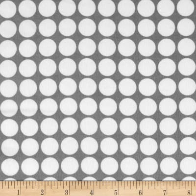 Cozy Cotton Flannel Large Dots Grey