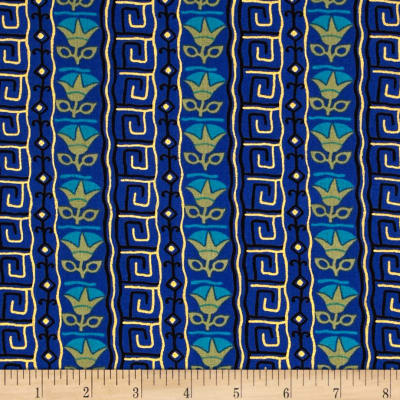 Egypt Metallic Lotus Dark Blue