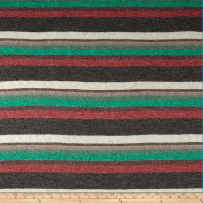 Hatchi Sweater Knit Stripes Red/Black/Green/Brown
