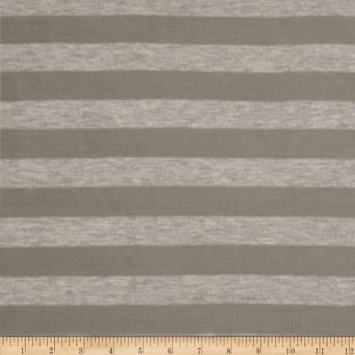 Stretch Hatchi Sweater Knit Stripes Taupe/Heather Grey
