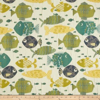 Swavelle/Mill Creek Something's Fishy Jacquard Tide