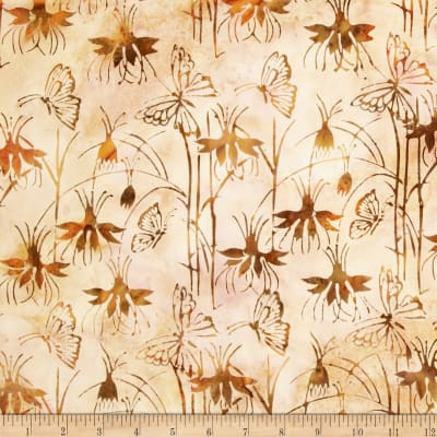 Island Batik Butterfly Taupe