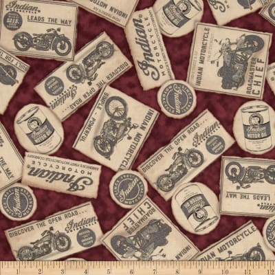 Classic Indian Newspaper Clippings Maroon