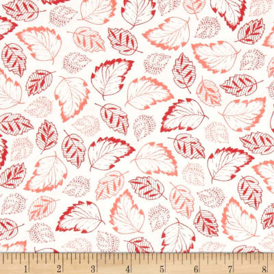 French Navy Tossed Leaves Cream/Coral