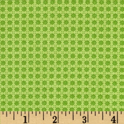 Who's Who Tonal Flower Grid Green