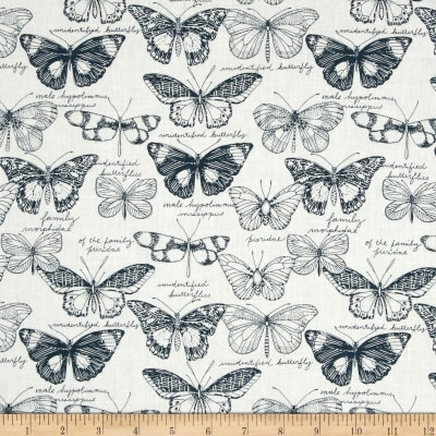 Cloud 9 Organic Biology Butterflies Navy