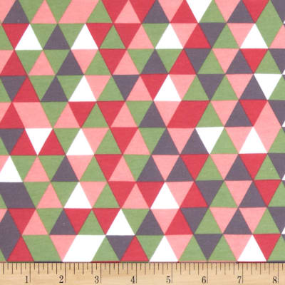 Riley Blake Cotton Jersey Knit Cottage Triangles Pink