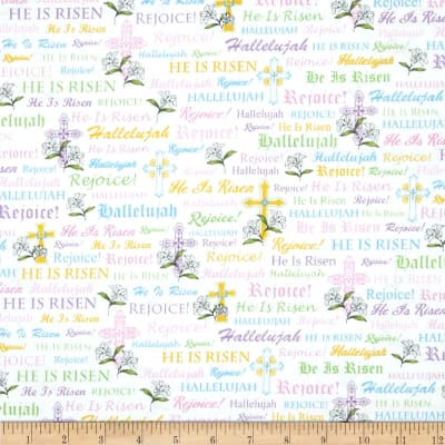 A Joyful Easter Crosses & Religious Words White