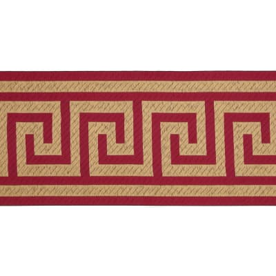 "6"" Woven Home Decor Greek Key Tape  Fuchsia"