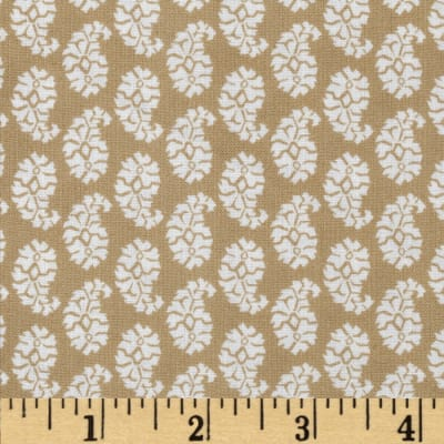 Joyful Leaf Paisley Tan
