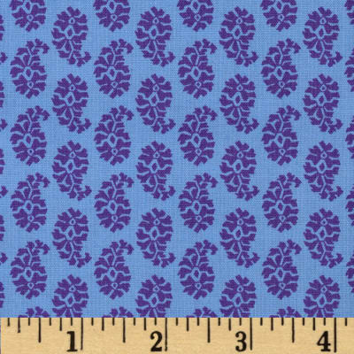 Joyful Leaf Paisley Blue/Purple