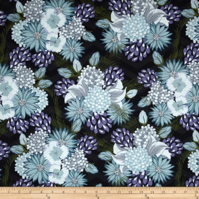 Bel Air Large Floral Black