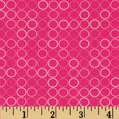 Spot On Circle In A Line Hot Pink