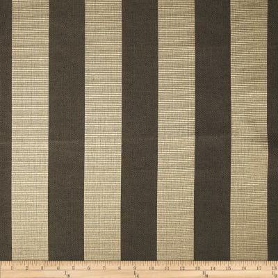 Duralee Wesley Ribbed Stripe Satin Jacquard Charcoal