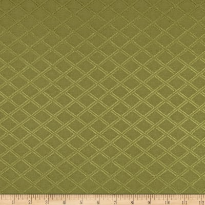 Duralee Latice Diamonds Satin Jacquard Basil