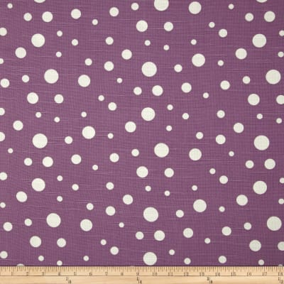 Duralee Dots Slub Grape