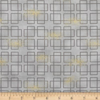 Oriental Traditions Metallic Plaid Grey