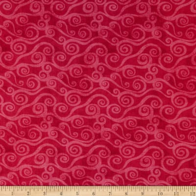 "108"" Wide Quilt Back Swirly Scroll Fuchsia"