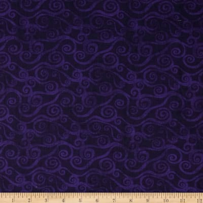 "108"" Wide Quilt Back Swirly Scroll Purple"