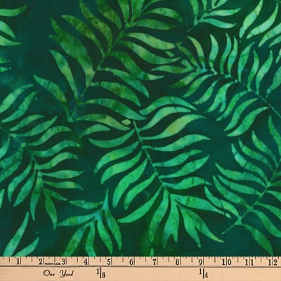 Artisan Batiks Totally Tropical Branches Island Green