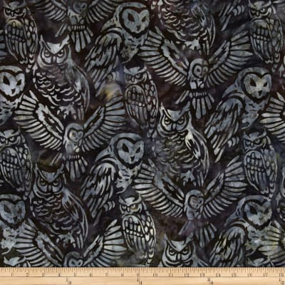 Artisan Batiks Wildlife Sanctuary Owls Snow
