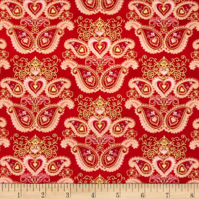 Sweet Heart Metallics Paisley Medallion Sweet