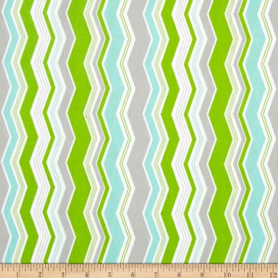 Riley Blake Little Ark Chevron Green