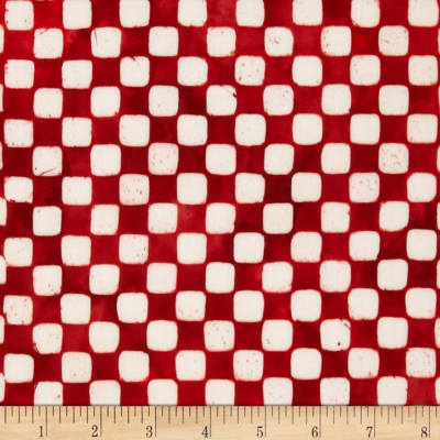 Artisan Batiks Color Source Checkerboard Red