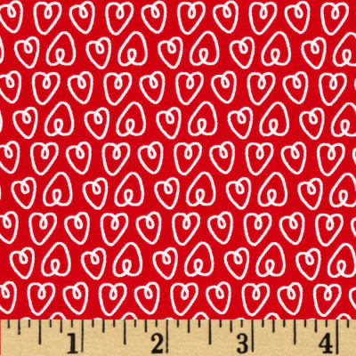 Michael Miller Petite Paris Petite Hearts Red