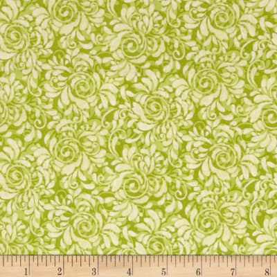 Fabric Freedom Butterfly Meadow Swirl Green