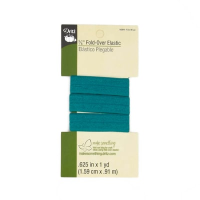 "Fold-Over Elastic 5/8""X1yd-Tile Blue"