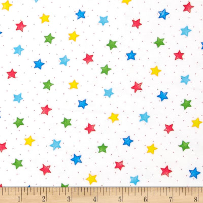 Comfy Flannel Stars White/Primary