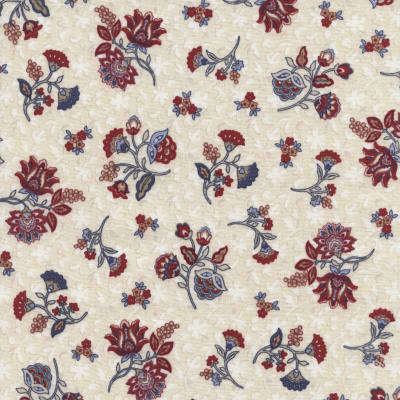 Timeless Treasures Americana Tossed Floral Cream