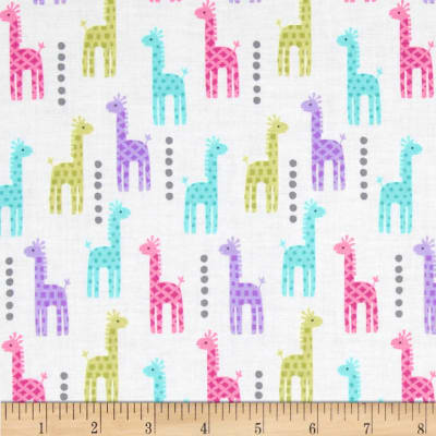 Michael Miller Zoo Littles Girls Things Mini Giraffes Pink