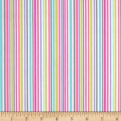 Michael Miller Zoo Littles Girls Things Slender Stripe Pink