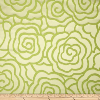 Starlight Peony Reversible Jacquard Apple Green