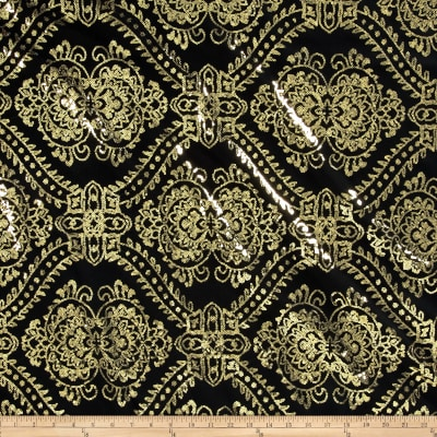 Starlight Sequined Mesh Damask Gold/Black