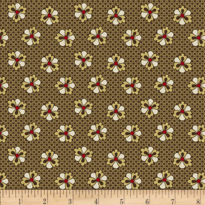 Paula Barnes Olde Townhouse Medium Flower Brown