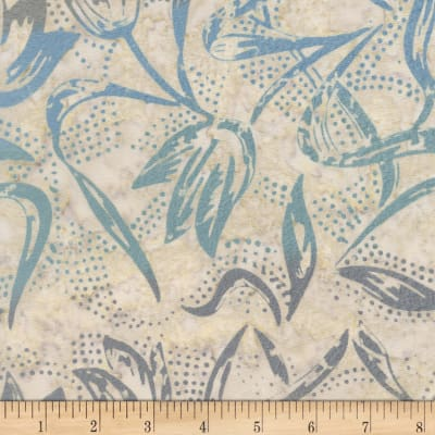 Timeless Treasures Tonga Batik Capri Tulips Ocean
