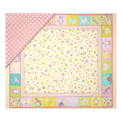 "Double Sided Quilted 36"" Baby Panel Multi"