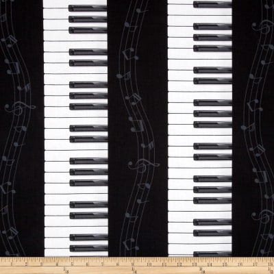 Timeless Treasures Piano Key Stripe Piano