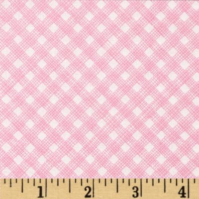 Timeless Treasures Sketch Gingham Pink
