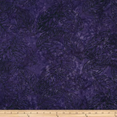Jinny Beyer Malaam Batiks Fountain Leaf Violet