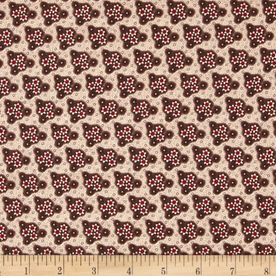 Edith Triangle Floral Brown