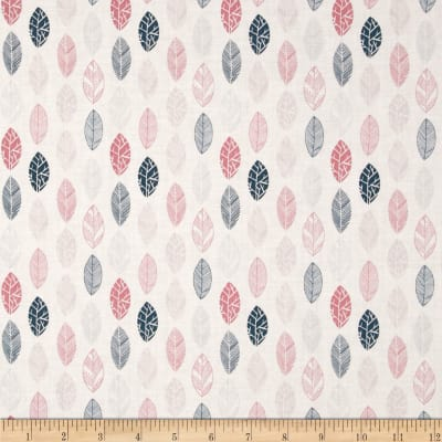 Fabric Freedom Quirky Floral Quirky Leaves Pink