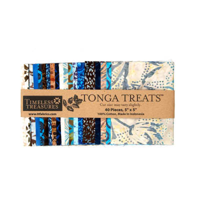 "Timeless Treasures Tonga Batik Treats Capri 5"" Mini Squares"