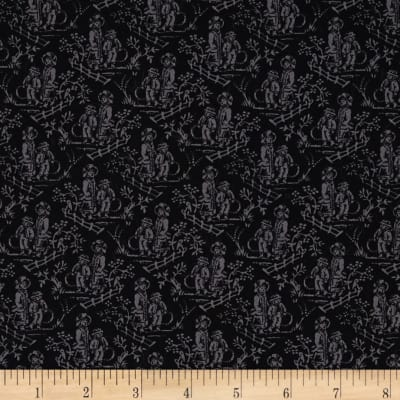 French Laundry Toile Black/Grey