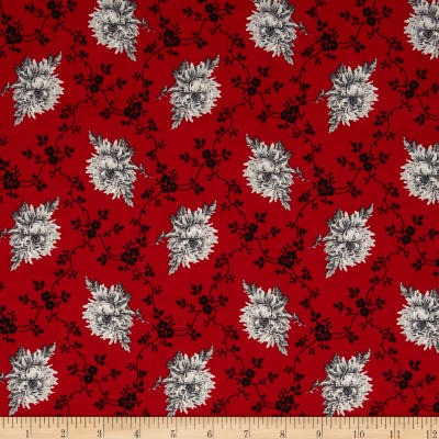 French Laundry Floral Trellis Red