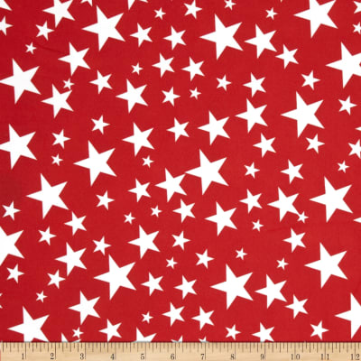 Alpine Star Poplin Red/White