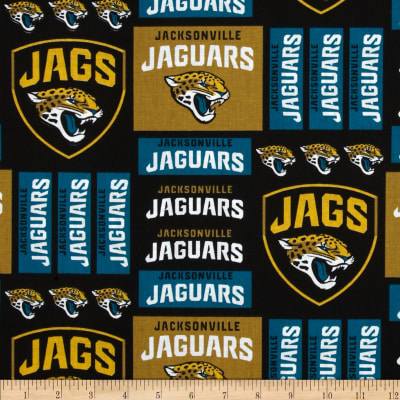 NFL Broadcloth Jacksonville Jaguars Black/Gold/Green